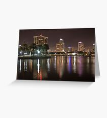 St. Petersburg Lights on Water Greeting Card