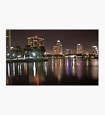 St. Petersburg Lights on Water Photographic Print