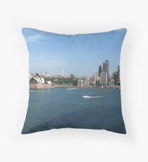Opera House and Circular Quay. Throw Pillow