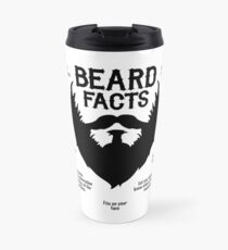 Beard Facts (black) Travel Mug