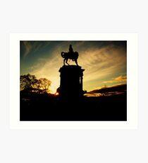 Here Comes The Equestrian Statue Art Print