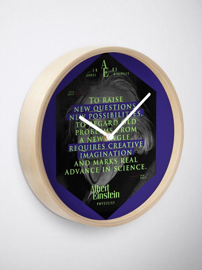 Vista alternativa de Reloj Cita de: Albert Einstein en Imaginación creativa - Pósters, pegatinas, regalos y camisetas