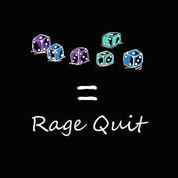 Rage Quit - Dark T's  by whirl