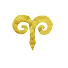 Golden Aries Sign by Manitarka