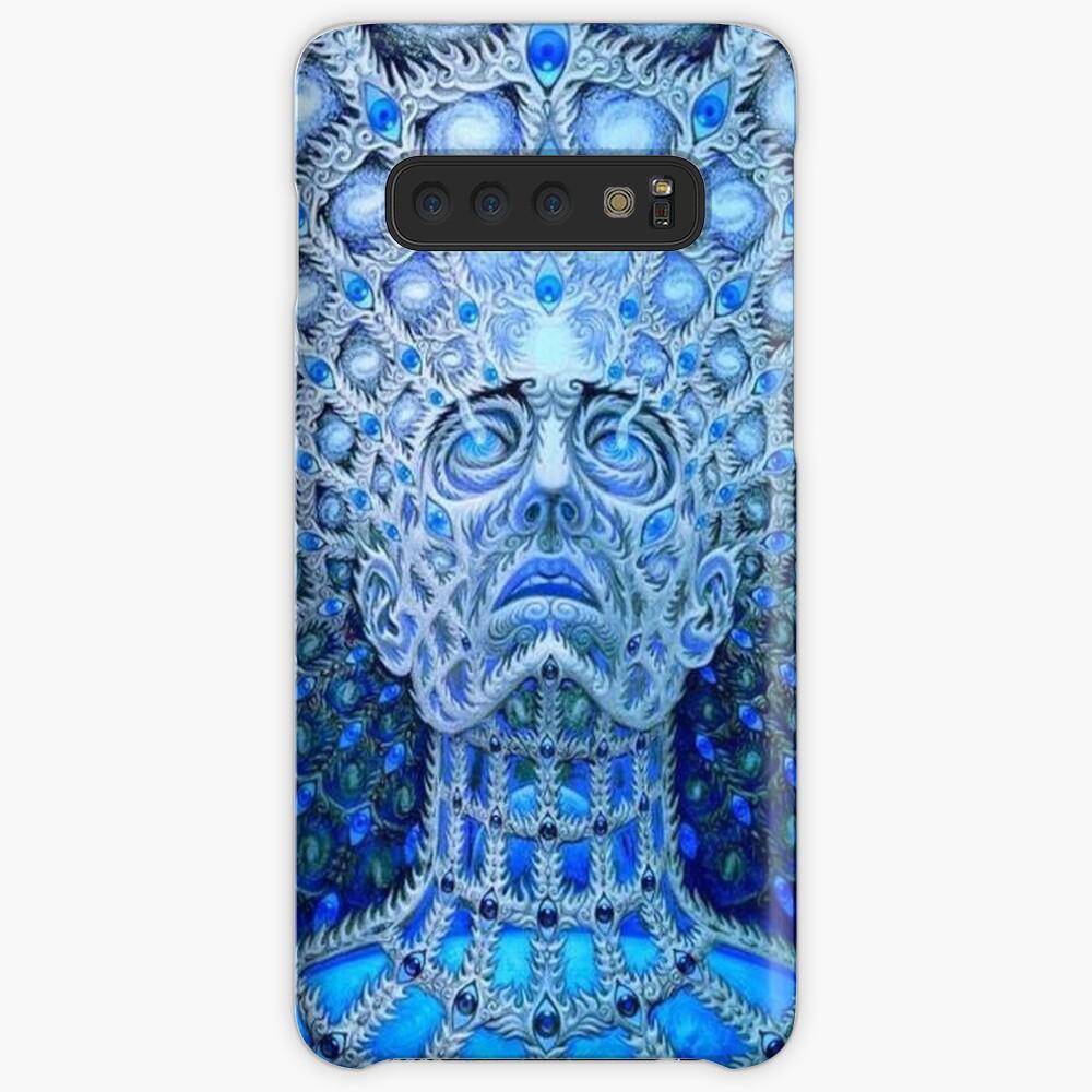 Werkzeugbandgrafik. Trippy, psychedelisches, cooles Logo Hülle & Klebefolie für Samsung Galaxy