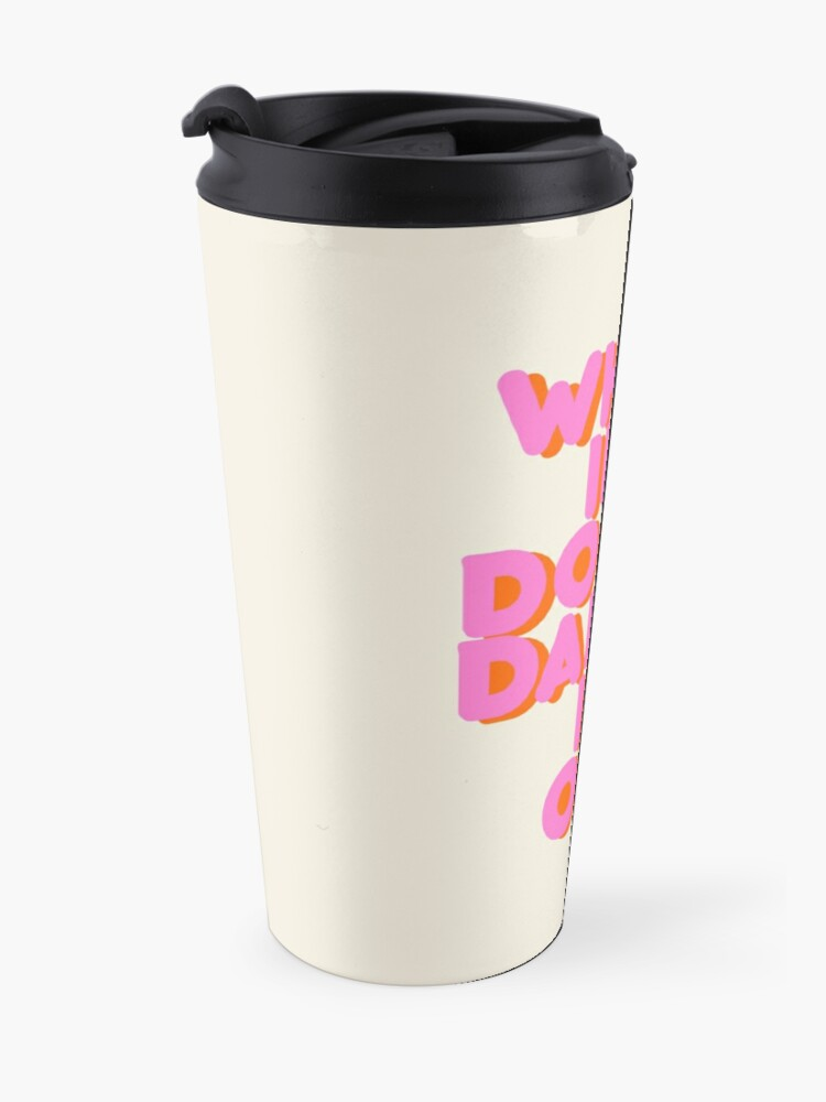 Alternate view of When in doubt dance it out! typography artwork Travel Mug