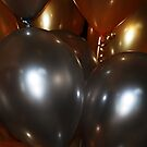 Gold and Silver Balloons by Lyccid