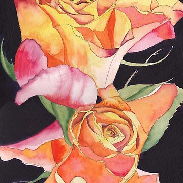 Pink and Yellow Roses by esvb