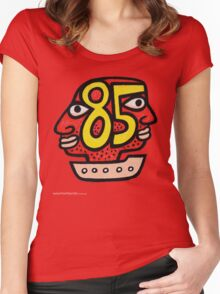 T-Shirt 85/85 (Immigration) by Reg Mombassa  Women's Fitted Scoop T-Shirt