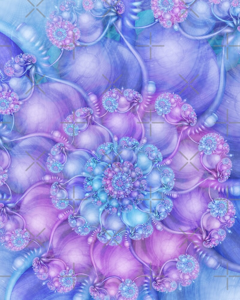 Cerulean Blue and Violet Purple Spiral by Kelly Dietrich
