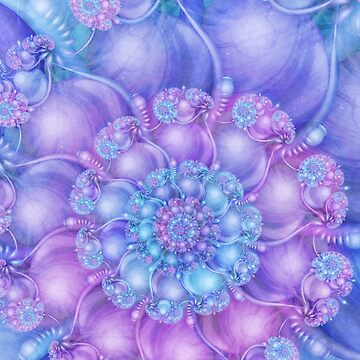 Cerulean Blue and Violet Purple Spiral by kellydietrich
