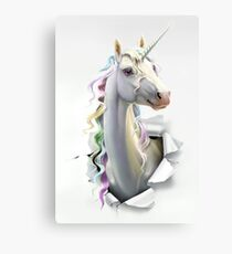 Pastel Pearl Unicorn Canvas Print
