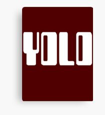'YOLO' by Chillee Wilson Canvas Print