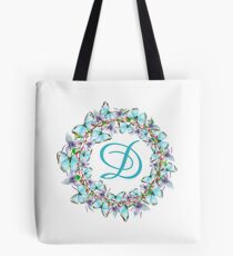 Letter D- butterfly, orchid, Alphabet, Monogram, Initial  Tote Bag