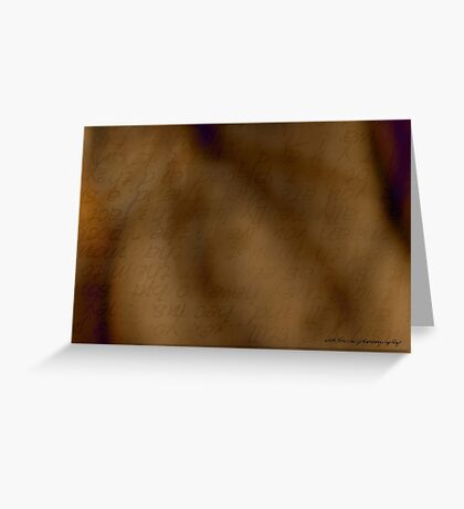 Transparent Words © Greeting Card