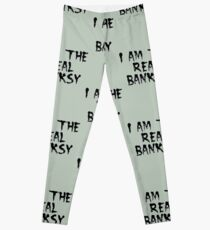 I am the Real Banksy by Chillee Wilson Leggings