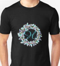 Letter H- butterfly, orchid, Alphabet, Monogram, Initial  Unisex T-Shirt