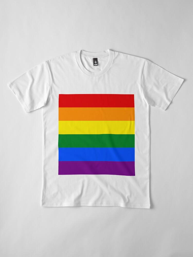 Alternative Ansicht von Gay Pride Regenbogenfahne Premium T-Shirt