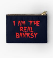 I am the Real Banksy by Chillee Wilson Studio Pouch