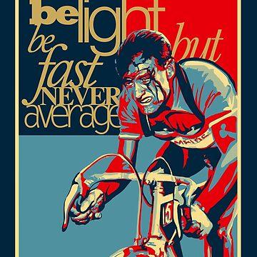 Retro Ciclismo Imprimir cartel duro como clavos de SFDesignstudio