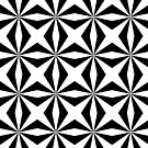 Cross Pattern, in Black and White by TOM HILL - Designer