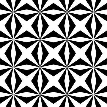 Cross Pattern, in Black and White by TOMSREDBUBBLE