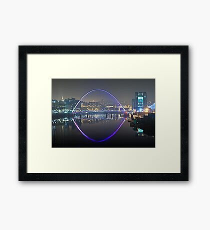 Millennium Bridge, Gateshead Framed Print