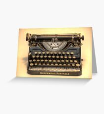 my underwood portable typewriter HDR Greeting Card