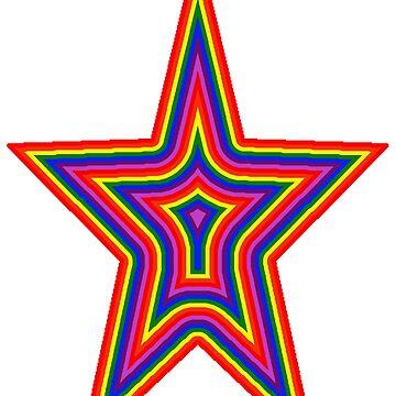 Psychedelic Rainbow Star by trudywinn