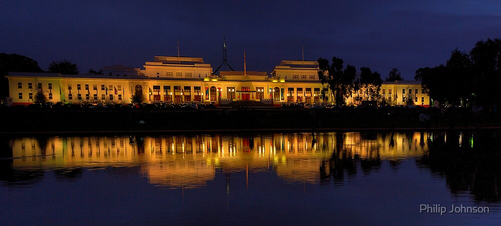 Order in The House (Panoramic)- Old Parliament House, Canberra Australia - The HDR Experience by Philip Johnson