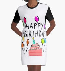 Happy Birthday! Graphic T-Shirt Dress