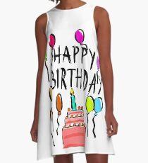 Happy Birthday! A-Line Dress