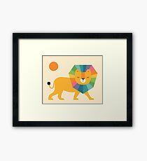 Lion Shine Framed Print