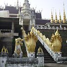 Entrance to Thai Temple. by Mywildscapepics