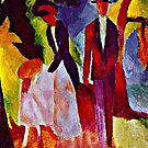 Macke - People at the Blue Lake by virginia50