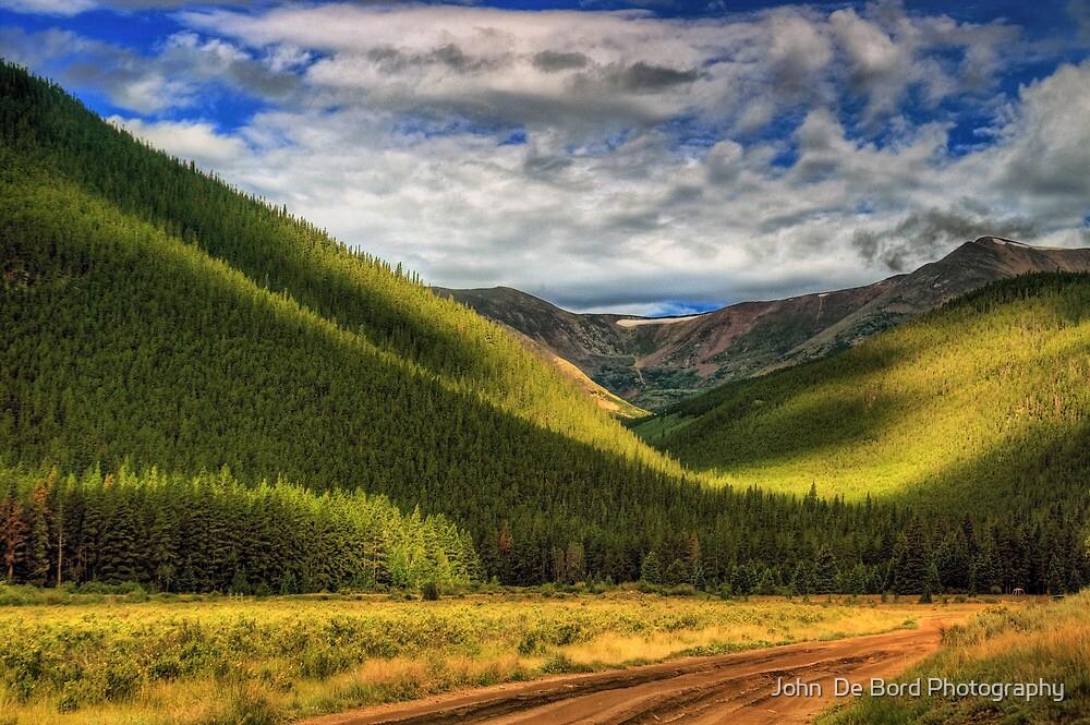 Light In The Mountain Valley by John  De Bord Photography