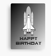 NASA Space Shuttle Happy Birthday Greeting Card by Chillee Wilson Canvas Print