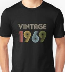 50th Birthday Gifts Vintage Born in 1969 funny shirt Slim Fit T-Shirt