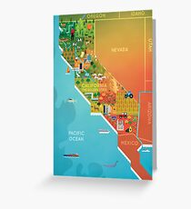California Map Greeting Card