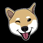 «Shiba Inu, perro, cabeza, dulce, dibujo.» de nijess