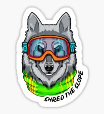 Wolf - Shred the Slope Sticker
