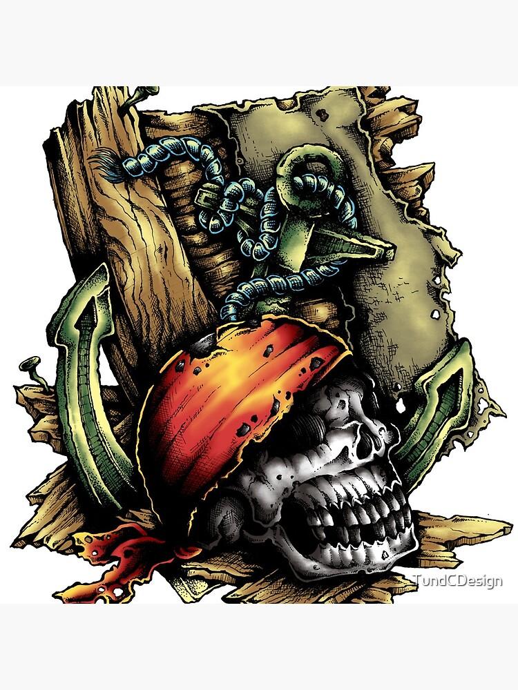 Pirate tattoo drawing painting von TundCDesign
