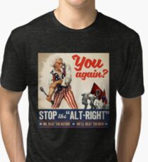 Antifa - Stop the Alt Right - Anti Trump Tri-blend T-Shirt