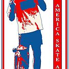 Make America Skate Again RED WHITE and BLUE by strayfoto
