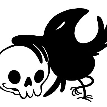 Crow and Skull  by katiecrumpton
