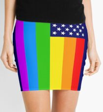 Gay USA Rainbow Flag - American LGBT Stars and Stripes Minirock