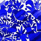 Otomi Dark Blue  by TinaSalazar