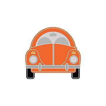 Orange Car by foxietoo