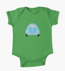 Blue Car One Piece - Short Sleeve