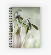 Subtle Snowdrop Spiral Notebook
